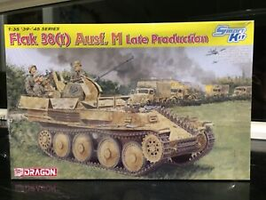 1/35 Dragon Flak 38(t) Ausf. M Late Production Tank Hobby Model Kit