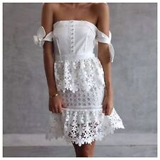 SELF PORTRAIT Corset And Lace Tiered Dress. BNWT. UK 12. BNWT. Designer