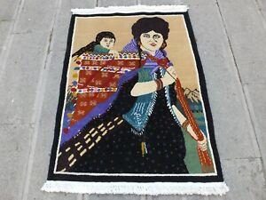 Antique Turkish Rug 2.8x3.7,Bohemian Boho Rug,Carpet For Bedroom,Eclectic Rug.