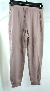 Joy Lab Women's Mid-Rise Cozy Jogger Pants Sweats with Drawstring Coral Small