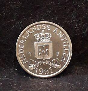 1981 Netherlands Antilles (Caribbean) cent, bright BU, KM-8a (NA3)          /N59