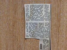u1-5 ephemera 1971 original small article the new seekers to appear royal variet