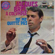 Pochette Tabac 33 tours Jacques Brel à l'Olympia Pressage Hollandias
