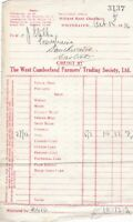 THE WEST CUMBERLAND FARMERS' TRADING SOCIETY, LTD 1936 Oats Invoice Ref 48650