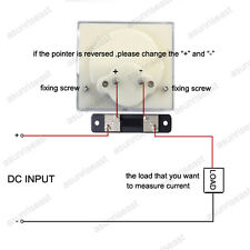1×DC 50A Analog Panel AMP Current Meter + Current Shunt 85C1 Ammeter Gauge