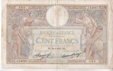 BILLET DE 100 FRANCS LUC OLIVIER MERSON.  1937  392