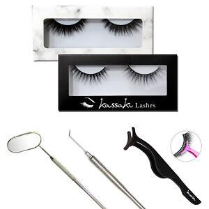 3D or 5D Silk Faux Mink False Eyelashes Reusable Eye Lashes 1 Pair with Glue