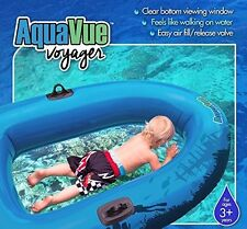 AQUAVUE Voyager - Clear Bottom Inflatable Snorkeling Raft