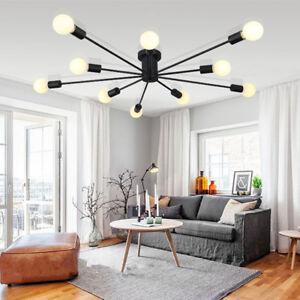 Modern Ceiling Lights Living Room Black Chandelier Bedroom LED Pendant Lighting