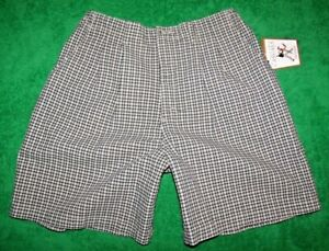 Women's Lee Wrinkle Free Casual Pleated Blue/Whit Plaid Shorts 18 34/36 x 10 NWT
