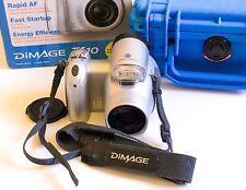 Rare Konica Minolta DiMAGE Z10 3.2MP Digital Camera In Box + Pelican Case