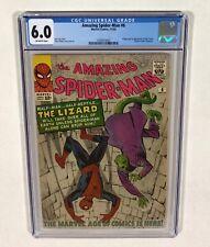 Amazing Spider-Man #6 CGC 6.0 Big KEY! Beauty! (1st Lizard!) 1963 Marvel