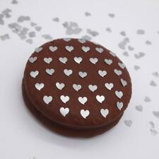 Silver Glitter Hearts Cake toppers Natural Edible Decorations Nuts Gluten Free