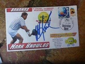 TENNIS STAR MARK KNOWLES  HAND SIGNED  COVER AUSTRALIAN OPEN 2004