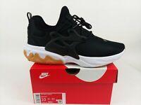Nike React Presto Black White Gum Running Shoes Sneakers AV2605-007 Size 10 NEW