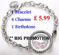 Floating Glass Memory Locket Bracelet + Charms