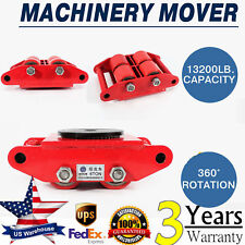 6T 13200 Lbs 4-Rollers Dolly Skate Machinery Roller Mover Cargo Trolley Machine
