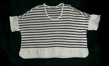 ZARA  w&b striped top
