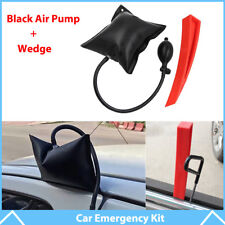 Car Air Pump Wedge + Plastic Wedge Shim Door Window Emergency Open Tools