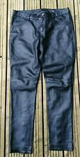 "NEXT SIGNATURE Black Soft Real Leather Trousers Jeans Size:14 - W:32"" L:30"""