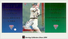 1994/95 Futera Cricket Trading Cards Super Series Ss40 Checklist 2