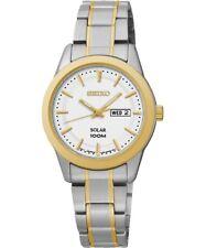 Seiko SUT162P1 Solar - Wristwatch Women's Stainless Steel Band Colour Two to