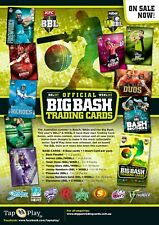 2017/18 Tap n Play BBL Big Bash Cricket New Sealed Trading Cards Case (10 Boxes)