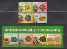 Philippine Stamps 2013 Philippine Edible Nuts & Seeds, Complete Set, MNH