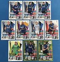 MATCH ATTAX EXTRA 2020/21 INTER MILAN SET OF ALL 10 CARDS PICTURED