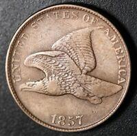 1857 FLYING EAGLE CENT - XF EF