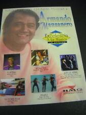 ARMANDO MANZANERO 1993 promo display advt MECANO Goria Trevi KID POWER POSSE etc