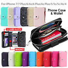 iPhone7 7 Plus 6s Case SE for Apple Zip Wallet Magnetic Leather Cover Coins Flip