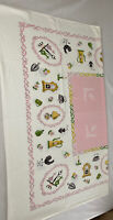 Vintage 50x46 Floral Kitchen Kettle Spring Tea Table Cloth Tapestry Wall Hanging