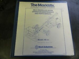 Marklifts 40 4 X 4 Boom Lift Operation Maintenance & Parts Manual