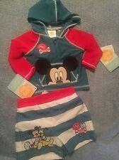 Disney Baby 3-6m Baby Boy Rash Guard /swim Trunks Pluto /Mickey Mouse NWT Free S