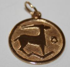 Gold Steinbock 333er Gold 8kt Anhänger STERNZEICHEN Kettenanhänger Beads