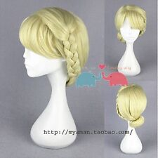 Frozen Snow Queen Elsa Princess Plate Made Of Light Blonde Cosplay Party Wig