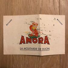 Buvard - La moutarde de DIJON - AMORA - Blotter