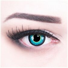 Coloured Contact Lenses Blue Seraphin Contacts Color Halloween + Free Case
