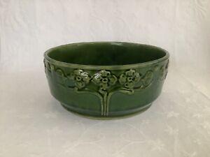 Art Nouveau Green Bowl