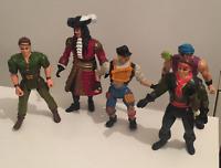 1991 Peter Pan action figures Rufio Captain Hook Ace Hook Lost Boy Mattel