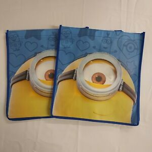 2 Despicable Me Stewart Kevin Minions Reusable Shopper Totes Gift Bags Poly
