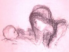 THREE MOTHER & CHILD WORKS BY JEAN-PIERRE ROUSSEAU OF MONTE CARLO, MONACO~c.1970