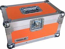 "7"" Single 200 Swan Flight Case Vinyl Record Box (Orange Rigid PVC)"