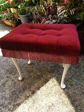 Vintage Velour Footstool Dressing Table Stool