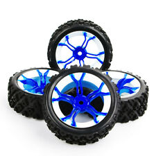 4X Rubber Rally Tires&Wheel MPNWB 12mm Hex For HSP HPI RC 1:10 Off Road car