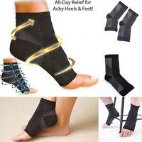 Sport Compression Relief Foot Heel Pain Relief Open Toe Sock Brace Support 34US