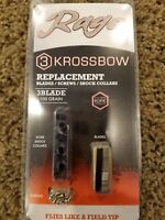 Rage Outdoors Krossbow Kore Replacement Blade Kit, 100 Grain, Silver