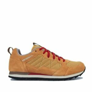Men's Merrell Alpine Sneaker Lace up Breathable Trainers in Gold