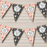 Party Banner Bunting Retro Vintage Cats Personalised Birthday